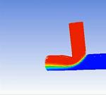 مدلسازی جریان در یک مخلوط کننده T شکل در Fluent