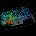 شبیه سازی حرکت یک فن دوارcpu با نیروی انتقال حرارت در ANSYS flunet