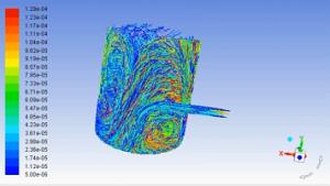 شبیه سازی ورود گاز و قطرات مایع به درون راکتور با استفاده از مدل DPM در fluent