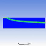 شبیه سازی حرکت فلز مذاب در لوله (ویسکوزیته وابسته به دما) در Fluent