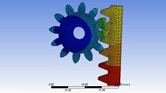 تحلیل دو بعدی چرخ دنده در انسیس Ansys Workbench