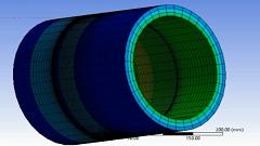 مدل سازی تماس به صورت دو بعدی متقارن در Ansys Workbench