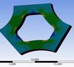 مدلسازی تحلیل کشش و تغییر فرم یک سه پره در نرم افزار Ansys