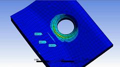 بررسی استفاده از Sub Modeling بر روی محفظه نگهدارنده پمپ در Ansys Workbench