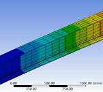 تحلیل استاتیکی مودال و هارمونیکی یک تیر در نرم افزار Ansys