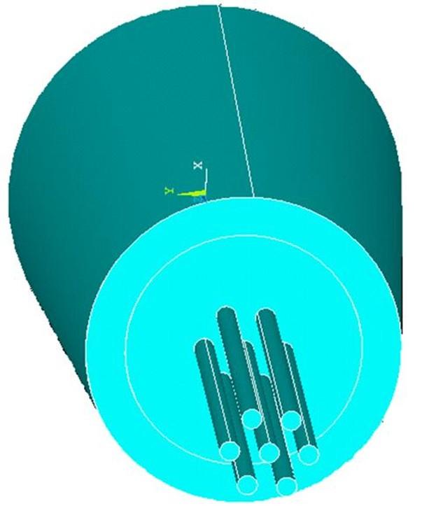 تحلیل تنش در اتصال قلاب کابل نگهدارندهی بوم شاول P&H